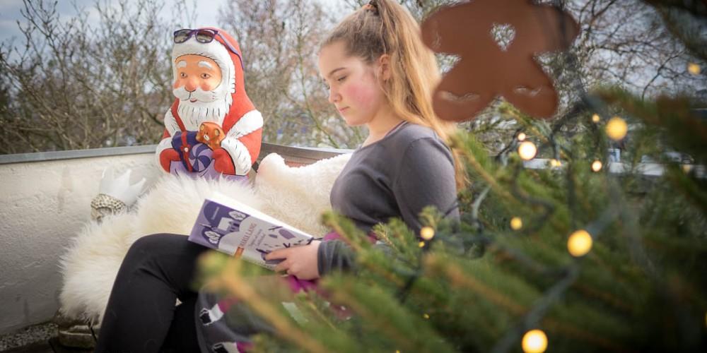 Der Weihnachtsmann ist etwas verwirrt - aber ich habe ihm meine Sonnenbrille geliehen und nun geht's ihm gut