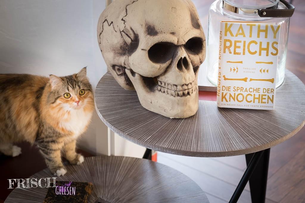 """Mary darf die """"Sprache der Knochen"""" von Kathy Reichs auch noch nicht lesen - sie ist dafür noch zu klein!"""
