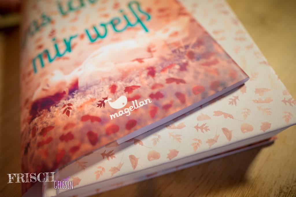 Bei diesem Buch vom magellan Verlag sind Schutzumschlag und Hardcover im passenden Look.