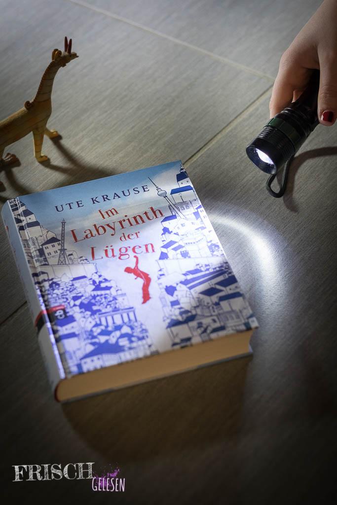 """""""Im Labyrinth der Lügen"""" von Ute Krause - Was Taschenlampe und das Fabelwesen miteinander zu tun haben müsst ihr selbst heraus finden."""