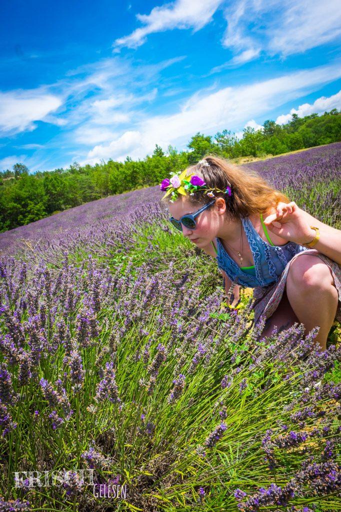 Ich liebe den Duft von Lavendel