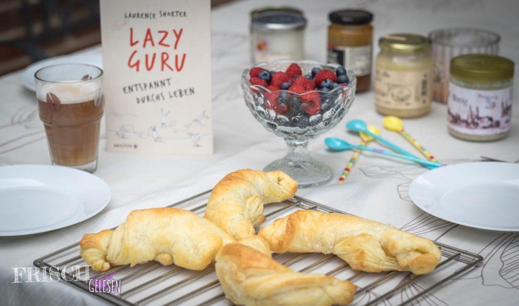 """Und diese leckeren Croissants passen perfekt zum lazy sein... Egal, ob wir ein Anfänger, oder schon ein """"Lazy Guru"""" sind."""
