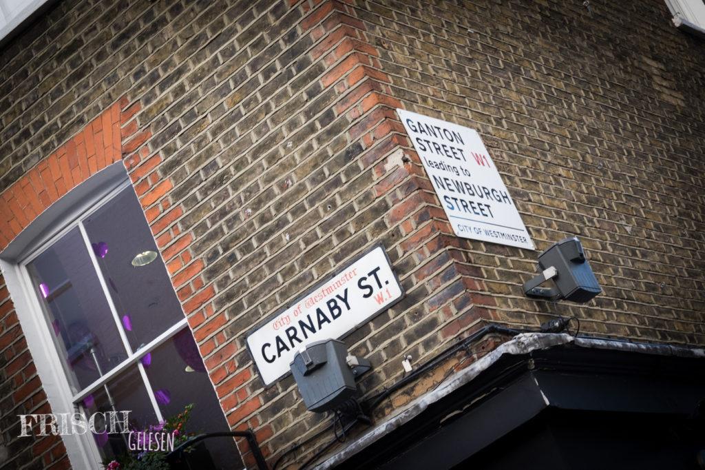 Die Carnaby Street in London.