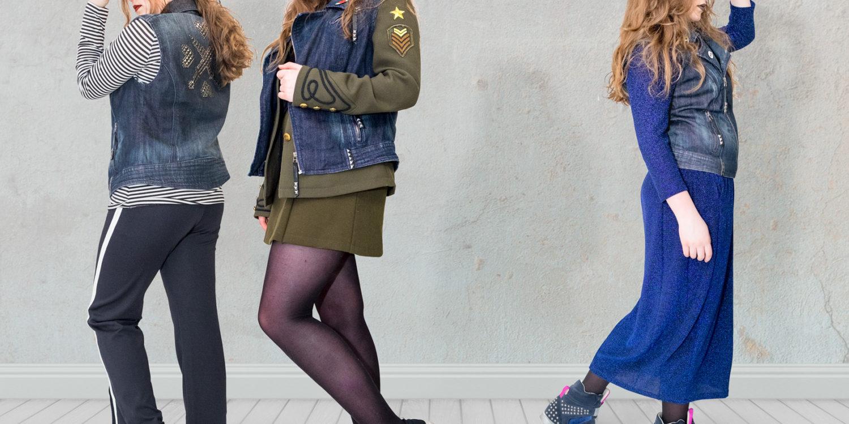 Eine Jeansweste und dreimal Denim Trend. ;)