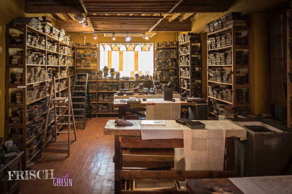 Druckerwerkstatt im Museum von Souleiado