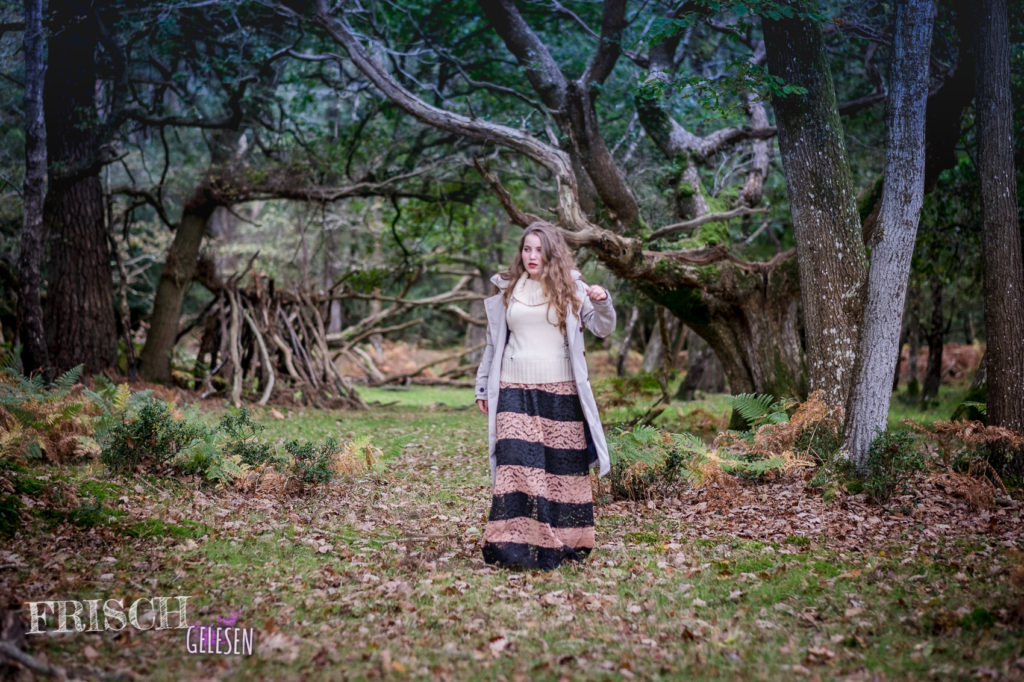 A modern forest fairy with a trench coat from Happy Rainy Days in the New Forest